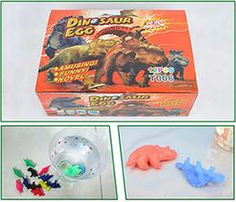 Stokta 60 adet / grup Çocuk bulmaca trompet renk çatlak dinozor yumurta şişlik oyuncaklar yumurtadan yumurta Paskalya yumurtaları oyuncaklar toptan
