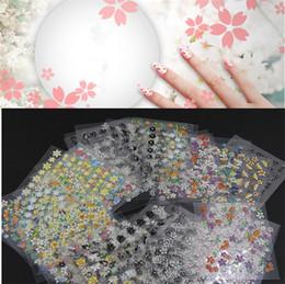 Wholesale Newest Set D Mix Color Floral Design Nail Art Stickers Decals Manicure Beautiful Fashion Accessories Decoration set