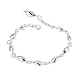 925 silver box link chains NZ - Hot High Quality Brand Design Water Wave Diamond 925 Silver Bracelet Fashion Chain Link Bracelets Jewelry Pretty Party Jewelry Gift