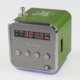 Portable Mp3 Amplifier Speaker Canada - Portable HIFI Mini Speaker MP3 Player Amplifier Micro SD TF Card USB Disk Computer Speaker with FM Radio