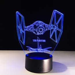 $enCountryForm.capitalKeyWord Canada - Tie Fighter 3D Optical Illusion Lamp Night Light DC 5V USB 5th Battery Wholesale Dropshipping