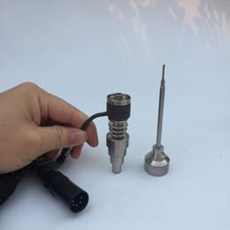 Discount hot runner coil heaters - Mini Enail Heater coil Electric Nail Dab Coil Heater E-Nail Dnail Hot Runner with Titanium Nail Electric e nail coil