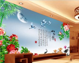 $enCountryForm.capitalKeyWord NZ - 3d wallpaper custom photo non-woven mural wall sticker Chinese style landscape painting picture 3d wall room murals wallpaper