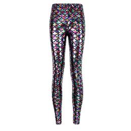 e1462dfcd03 Hot sales Plus size 9 styles 2016 women s colorful sexy women Mermaid sport  Leggings Slim mermaid chamelion leggings