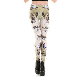 Équipement Sexy Pas Cher-Vente en gros - Leggings Femme Mécanique Gear 3D Digital Imprimé Mode Sexy Leggings Brand Fitness High Elastic Punk Women Pants