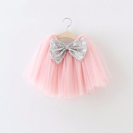 $enCountryForm.capitalKeyWord Australia - EMS DHL Free ship Baby girls 2016 Summer the princess skirt gauze pack kids sequined bow Tutu Skirt 7 Colors