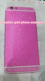 $enCountryForm.capitalKeyWord NZ - 2018 real 24K dark pink DIAMOND crystal Plating Battery Back Housing Cover Skin for iPhone 6 24kt 24ct dark pink crystal cases