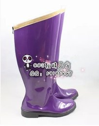Vocaloid christmas costumes online shopping - vocaloid Luka purple cos Cosplay Shoes Boots shoe boot JZ308 anime Halloween Christmas