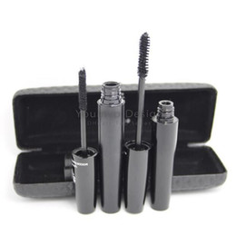 Discount mascara set boxes - 3D Fiber Lashes Mascara Waterproof Double Mascara 3D Mascara Set With Black Box Packing Newest Version(5103 barcode)