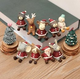 discount bear christmas ornaments christmas gifts resin crafts santa ornaments miniatures figurines decoration sant claus tree - Miniature Christmas Figurines
