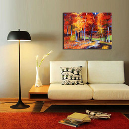 1 Picture Combination Maple Grove Street Oil Painting Modern Canvas Art Wall Decor Paintings For Living Room