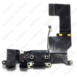 dock for iphone 5s UK - 100PCS New USB Dock Connector Charger Charging Port Flex Cable For iPhone 5 5s 5c DHL Shipping