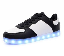 Discount neon shoes for women - 2016 Women Colorful glowing shoes with lights up led luminous shoes a new simulation sole led shoes for adults neon bask