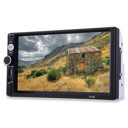 راديو السيارة 7010B 2 الدين 7 بوصة HD شاشة تعمل باللمس راديو ستيريو Bluetooth FM / MP3 / MP4 / الصوت / الفيديو / USB إلكترونيات السيارات في داش MP5 لاعب