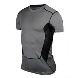$enCountryForm.capitalKeyWord Australia - Wholesale-Mens Sports Compression Wear Under Pro Base Layer Short Sleeve T-Shirts Athletic S-XXL