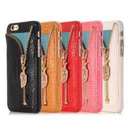DiamonD apple penDant online shopping - For Samsung Note Luxury PU Leather Case Diamond Zipper Pendant Case Bling Bling Case For Iphone S S DHL Free SCA195