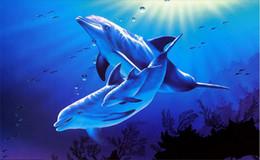 $enCountryForm.capitalKeyWord Canada - 3d ceiling murals wallpaper custom photo non-woven mural 3 d wall murals wallpaper for walls 3d Blue ocean dolphin decoration painting