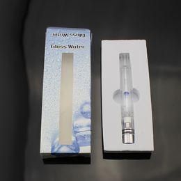Discount glass tank bong - Pyrex Glass Hookah atomizer tanks Vaporizer Dry Herb Wax pen water filter pipe ecig e cig cigarette bongs