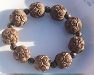 Carved Wood Ring Canada - Tibetan buddhist buddhist beads are hand-carved, small leaf rosewood lotus (lucky) bracelets, beads.