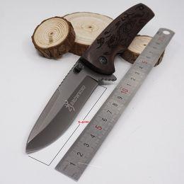 $enCountryForm.capitalKeyWord NZ - Brown X45 Survival Knives Pocket Folding Knife 3CR13MOV Blade Wood Handle Cutting tool Tactical Knife Hunting Best Gife
