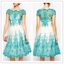 $enCountryForm.capitalKeyWord Canada - Handmade Lace Embroidery Evening Prom Dresses Plus Size 2016 Short Sleeves Blue Cocktail Celebrity Party Gowns Special Occasion Formal Dress
