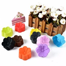 Small Silicone mouldS online shopping - Diameter cm begonia shape muffin cups Small lovely child cake mould Multipurpose jelly pudding baking tool