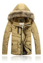 Duck Parka Man Canada - 50% OFF Free Shipping 2018 New AFS JEEP Brand Mens Winter Duck Down Jackets Men Big Fur Collar Down Parkas Men Plus Size Hot M-3XL 191