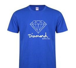 diamond supply tee shirts NZ - New Summer Cotton Mens T Shirts Fashion Short-sleeve Printed Diamond Supply Co Male Tops Tees Skate Brand Hip Hop Sport Clothes
