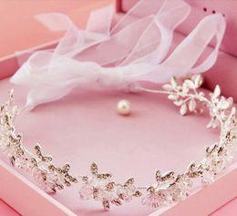 $enCountryForm.capitalKeyWord Canada - Rhinestone Wedding Bridal Headband Ribbon Headpiece Princess Crown Tiara Crystal Hair Accessories Vintage Flower Headdress Silver Jewelry