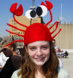 Halloween funny hats for party Unique Cute Crab Hat Cap for Halloween  Christmas Party Decoration Red HJIA680 e65fc1c74f9