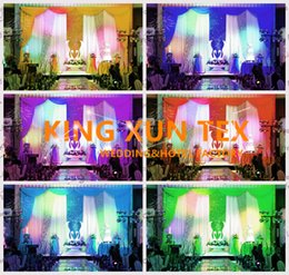curtain sequin Canada - Factory New Design Wedding Backdrop Curtain Include The Color Swag And The Sequin Fabric With Best Quanlity Free Shipping
