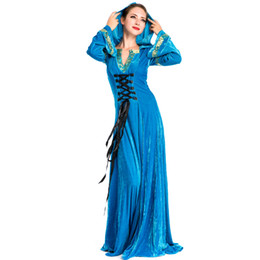 $enCountryForm.capitalKeyWord UK - New Arrival Vintage Medieval Renaissance Victoria Luxury Cosplay Costumes Halloween Blue Hooded Long Dress European Royal Dress A158704