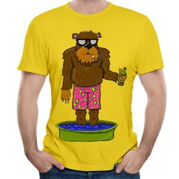 $enCountryForm.capitalKeyWord Canada - Funny cartoon print mens tees yellow color short sleeve for boys hippie style men's design t-shirt summer trend just chill