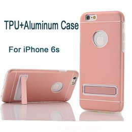 metal aluminum bumper case for iphone 2019 - For iPhone 6 case TPU Bumper Aluminum Metal Case Cover For iPhone 6s Plus PC Holder Metal Back Case DHL SCA148 discount
