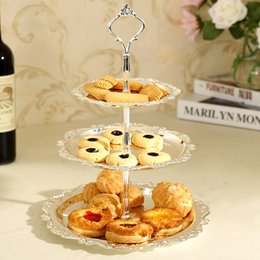 3 tier stainless steel serving tray cake plate stand cupcake fruit holder rack wedding decoration party tea time dishes buffet christmas