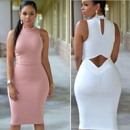 Wholesale womens sexy robes online – Womens Sexy Dresses Party Night Club Dress Bodycon Evening Party Plus Size Women Clothing Robe Femme Vestidos New White Black dress