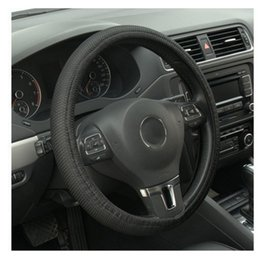 Leather car steering online shopping - Sale New Universal Anti slip BreathablePU Leather DIY Car Steering Wheel Cover Case With Needles and Thread
