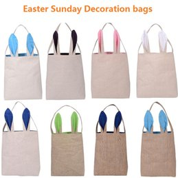 Egg new bags online egg new bags for sale new easter gift bags classic rabbit ears cloth bag put easter eggs for kids easter sunday decoration bags 1726 negle Images