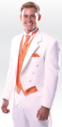 $enCountryForm.capitalKeyWord Canada - Custom Made Swallow-Tailed Full Dress Whit Groom Tuxedos wedding suit Groomsman Bridesman Clothing Business (Jacket+Pants)