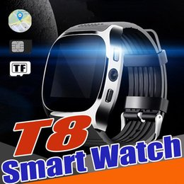 cheap cameras for kids 2019 - T8 Bluetooth Smart Watch Clock Cheap Hot Sell Smartwatch Suppot SIM&TF Card With Camera Call Message for Android