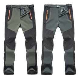 Оптовая МОДА СТИЛЬ зима Мужчины Женщины пешие прогулки брюки открытый Softshell брюки водонепроницаемый ветрозащитный тепловой для кемпинга лыжный альпинизм