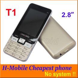 "H Camera Canada - Cheap H-Mobile T1 2.8"" Mobile Phone Dual Sim Quad Band 2G GSM unlocked Phone Back Camera with Flashlight Bluetooth FM MP3 no system 10pcs"