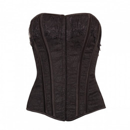 5af572fc3a Halloween Corset Tops NZ - Women Burlesque Slimming Lace Overbust Corset  with Black Insert Panels Night