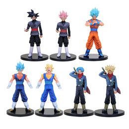 $enCountryForm.capitalKeyWord Australia - 7pcs lot Dragon Ball Super DXF The Super Warriors Super Saiyan God Son Goku Vegetto Trunks Goku Black Action Figure Toy