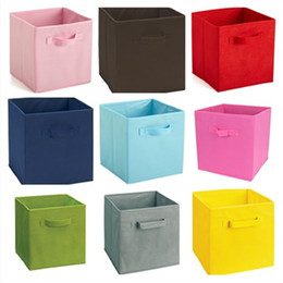 variety wholesale clothes 2019 - Storage Box Non Woven Fabric Fold Boxes Clothes Debris Multi Function Locker A Variety Of Colors IC720 cheap variety who