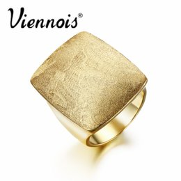 SetS viennoiS online shopping - Viennois Gold or Silver Color GB Geometric Size Rings for Woman Jewelry Rectangular Weddings Party Rings