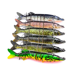 large lures saltwater 2019 - 1pcs Large Size 6 Color Newest Multi Jointed Bass Plastic Fishing Lures Swimbait Sink Hooks Tackle 20.7cm 66g discount l