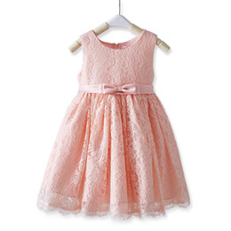 $enCountryForm.capitalKeyWord UK - Fairy Lace Pink,Ivory Flower Girls Dress Knee Length girls Party Dress Cute 2017 New Arrival Real Photos Fast Shipping Cheap