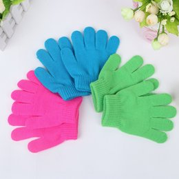Jacquard Knit Fabric Canada - Custom Knitted Gloves Winter Acrylic Fabric Five Fingers Gloves Wholesale Can Print Your Logo On It Promotional Product