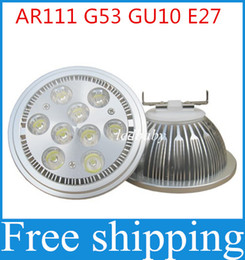 Replace spotlight bulb online shopping - High Power AR111 LED Spotlight W W W W G53 Aluminum Alloy Led Bulbs AC85 V Replace Halogen for Business Lighting